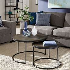 downing black finish nesting coffee table with faux