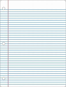 College Rule Notebook Paper Fancy No Pants College Ruled