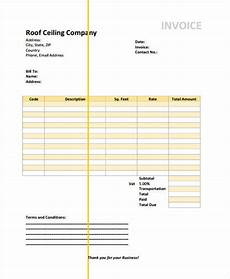 Roofing Invoice Free 5 Roofing Invoice Templates In Ms Word Pdf