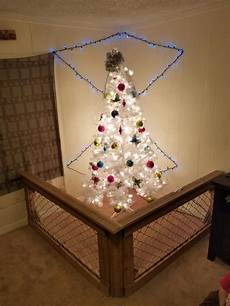 Chain Link Fence Christmas Lights Custom Wood Amp Chainlink Fence For Christmas Tree Custom