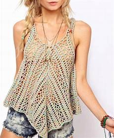 crochet top pattern detailed in for