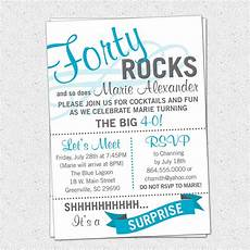 Invitation Message For Party 40th Birthday Party Invitations Wording Free Printable