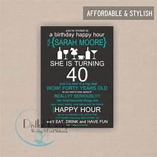 Happy Hour Invite Wording Happy Birthday Invitation Wording