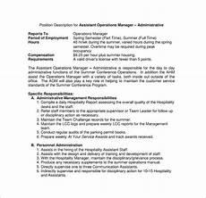 Operations Associate Job Description 11 Operation Manager Job Description Templates Free