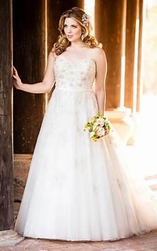 silver lace plus size wedding dress stella york wedding