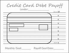 Credit Card Payment Tracker Tracking Your Debt Goals