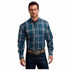 mens two pocket sleeve shirts blue plaid two pocket sleeve button shirt