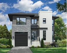 Storey Floor Plans Two Story Contemporary House Plan 80806pm
