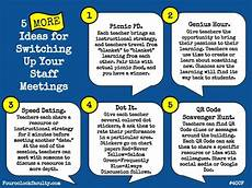 Office Meeting Topics 5 More Ideas To Switch Up Staff Meetings 4 O Clock Faculty