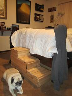 steps for the to get on the bed stairs for bed