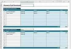 Price Comparison Spreadsheet Template Grocery Price Comparison Spreadsheet 187 Exceltemplate Net