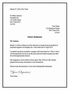 Resignation Letter In Word Resignation Letter Template Word With Images