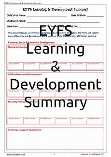 Learning And Development Template Learning Amp Development Profile Summary Mindingkids