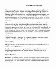 Sample Of Objectives In A Resumes Free 9 Sample Resume Objective Templates In Pdf Ms Word