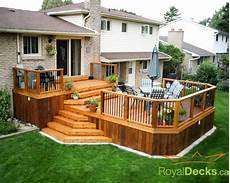 Two Level Deck Designs Two Tier Deck Houzz