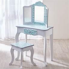 teamson fashion prints vanity set with mirror