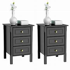 yaheetech 3 drawers nightstand end table