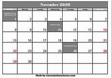 November 2020 Calendar Printable November 2020 Calendar With Holidays Printable Calendar