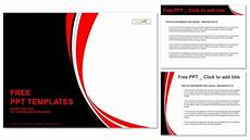 Red Templates Abstract Red And Black Wavy Background Powerpoint Template
