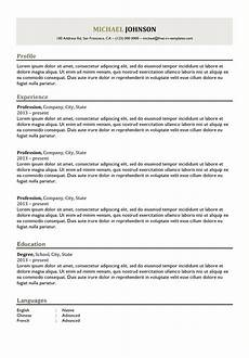 What Is A Traditional Resume Classical Free Cv Templates