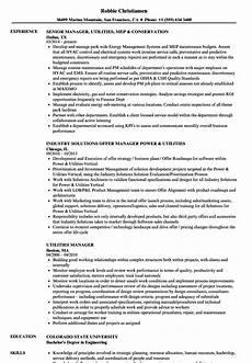 Utility Resume Utilities Manager Resume Samples Velvet Jobs