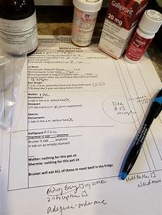 Chicken Medication Chart Senior Dogs Why Medication Charts Are Helpful Wag And Cluck