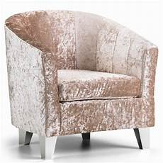 tub chair crushed velvet