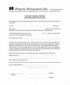 Printable 30 Day Notice To Landlord 13 30 Day Notice Templates Google Docs Ms Word Apple