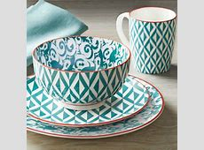 Better Homes and Gardens Piers Teal Mix and Match 16 Piece