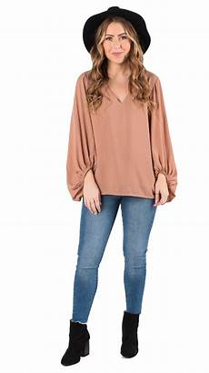 sleeve blouse for therapy wishlist apparel s v neck balloon sleeve blouse ebay