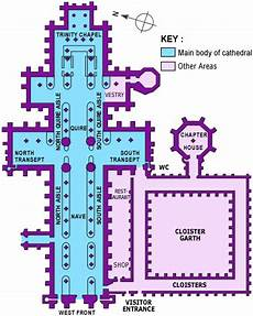 Floor Plan Of Cathedral The Middle Ages Romanesque And Ms