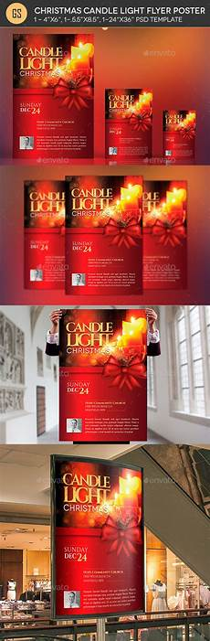 Christmas Lights Flyer Template Christmas Candle Light Flyer Poster Template By Godserv2