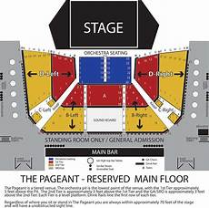 Tabernacle Seating Chart General Admission Seating Maps The Pageant