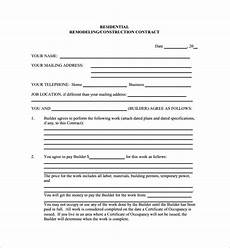 Construction Contract Free Download Free 7 Remodeling Contract Templates In Apple Pages