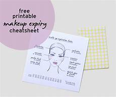 Mary Expiration Chart Free Printable Make Up Expiry Date Cheat Sheet Guide