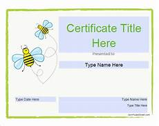 Free Certificate Template For Kids Free 13 Certificate Templates For Kids In Psd Ms Word