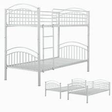 Panana 2 X 3ft Single Metal Bunk Bed 2 by Panana Metal Bunk Bed 3ft Single Split Into 2 Beds