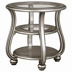 silver accent table signature design by coralayne end table in