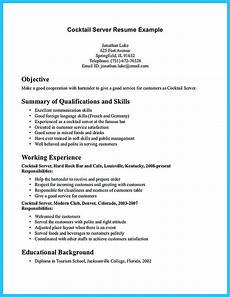 Resume For A Server Impress The Recruiters With These Bartender Resume Skills