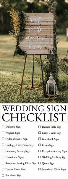 Checklist For A Wedding Show Your Guests The Way With This Wedding Sign Checklist