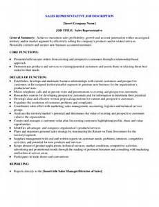 Regional Sales Director Job Description Sample Sales Representative Job Description