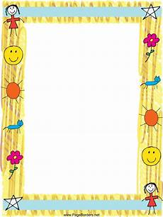 Newsletter Borders Folio Infantil Page Borders Design Page Borders