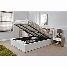 ottoman storage bed upholstered in faux leather