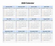 Printable 2020 12 Month Calendar Free Yearly Printable Calendar 2020 With Holidays