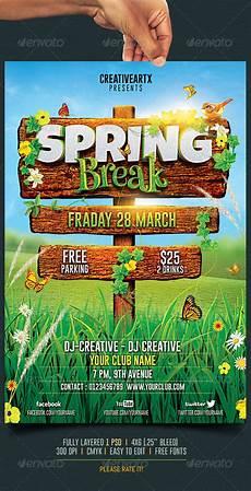 Spring Event Flyer Template 10 Best Spring Break Flyer Templates Premiumcoding