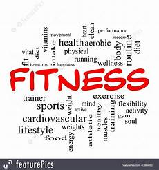 Words Related To Fitness Signs And Info Fitness Words Stock Illustration