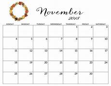 November Calendar Printable Printable 2018 Monthly Blank Templates Latest Calendar