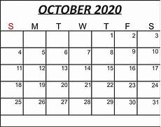 October 2020 Calendar Template Free October 2020 Printable Calendar Template In Pdf Word