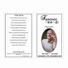 Memorial Pamphlet Template Free Funeral Program Templates