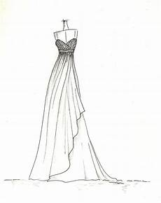 dress sketch of your special dress a gift